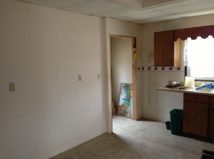 More kitchen toward the back door.