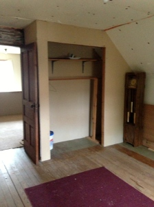 This second upstairs room has a closet.