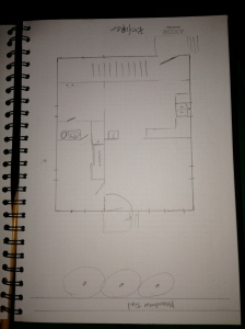 Here's a semi-to-scale sketch of the home's current floor plan.