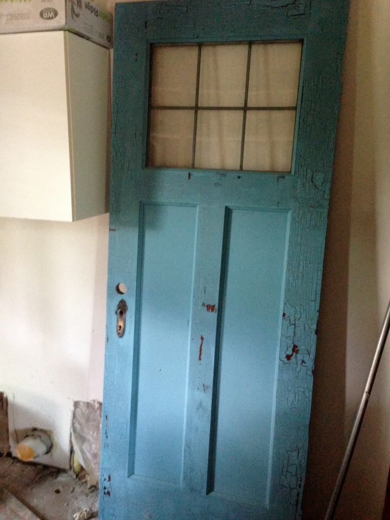 This beauty will be the door to our laundry/pantry. It served as the backdrop for my sister's recent wedding and they were kind enough to let us bring it home! #SAFaye