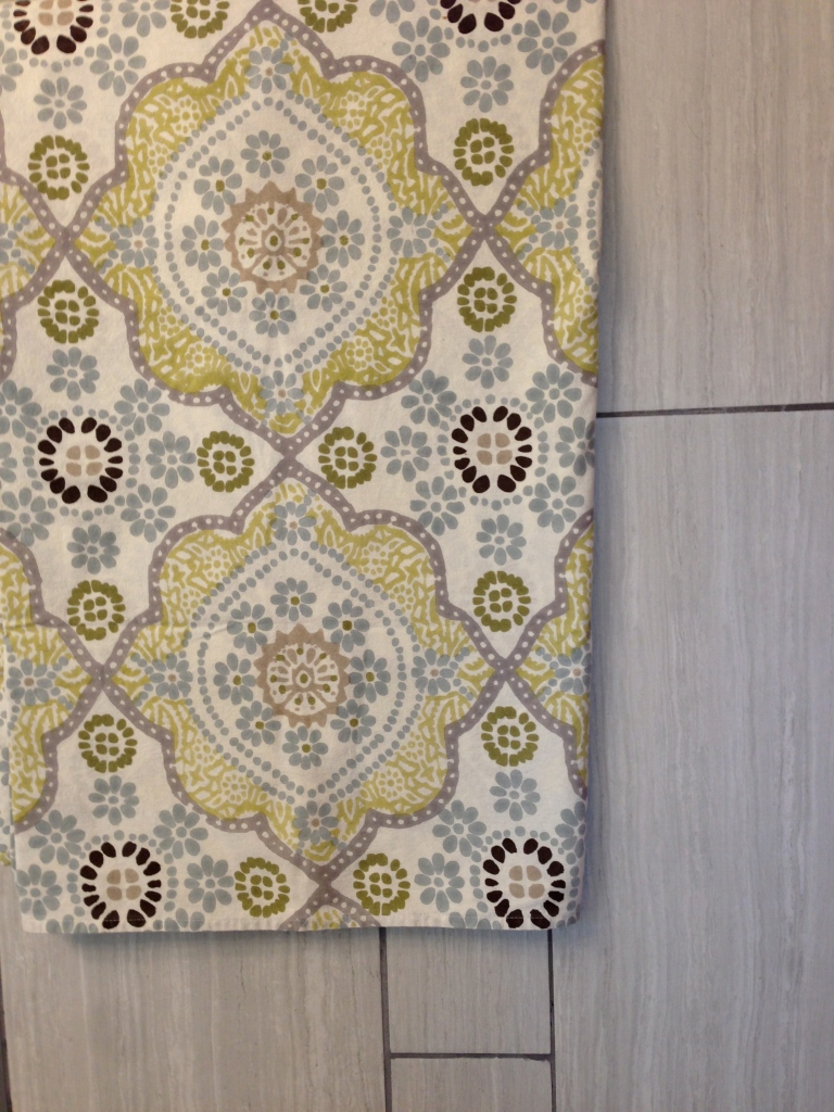 Here's a look at the fabric and the tile together. A magic match!